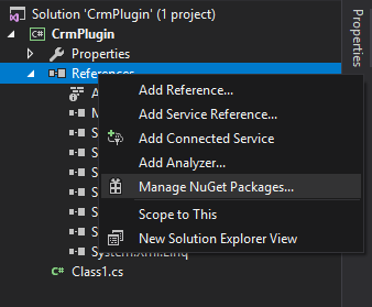 Open nuget manager
